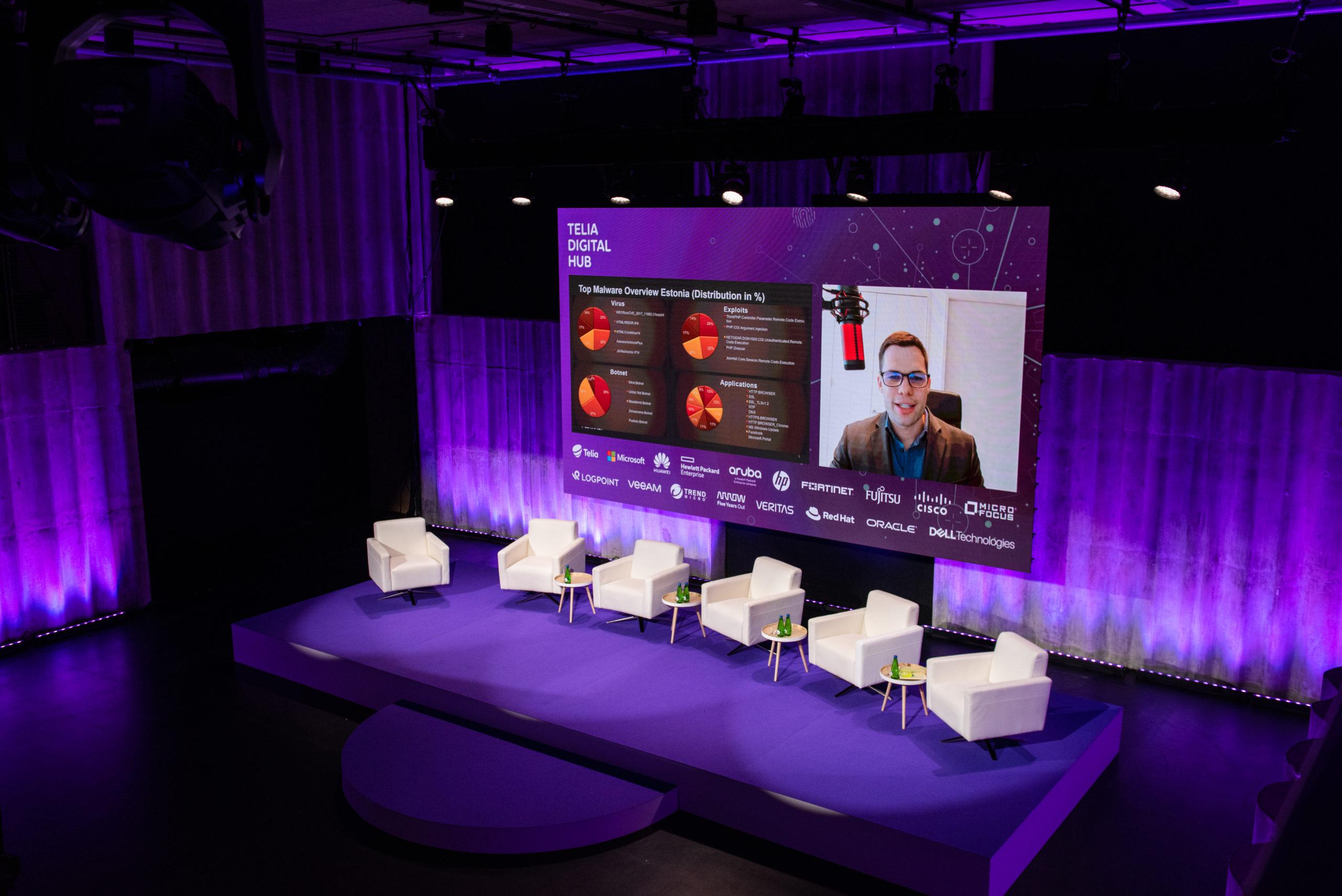 virtual stage of Telia event